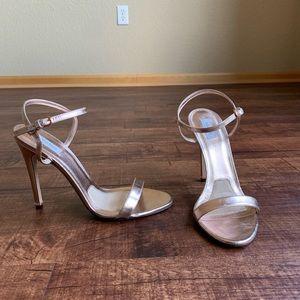 MaxMara copper color leather 9.5M open toe sandals